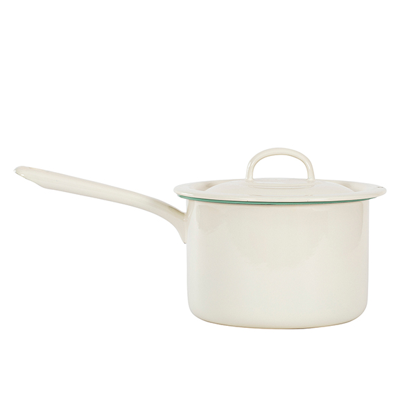 Pot with handle i gruppen Emaljerat Stål hos Kockums Jernverk AB (POT-004)