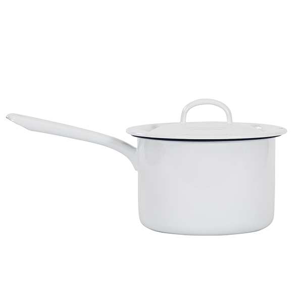 Pot with handle i gruppen Emaljerat Stål hos Kockums Jernverk AB (POT-006)